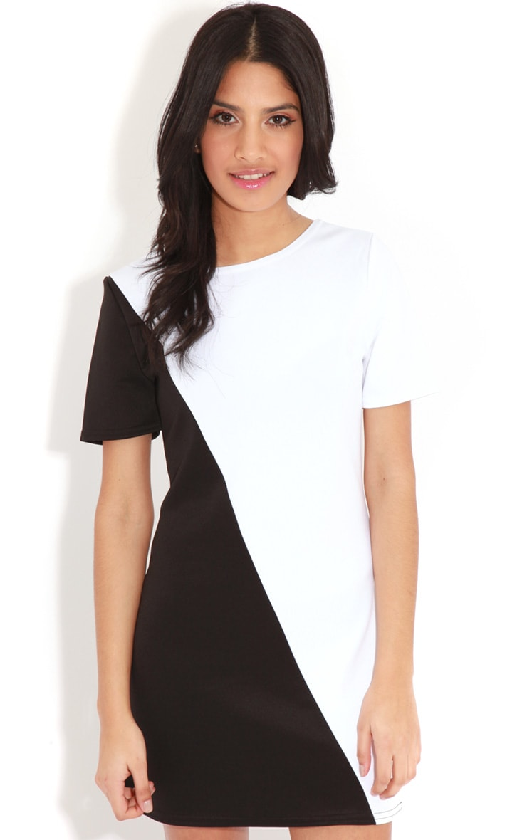 Jadie Monochrome Scuba Dress 4