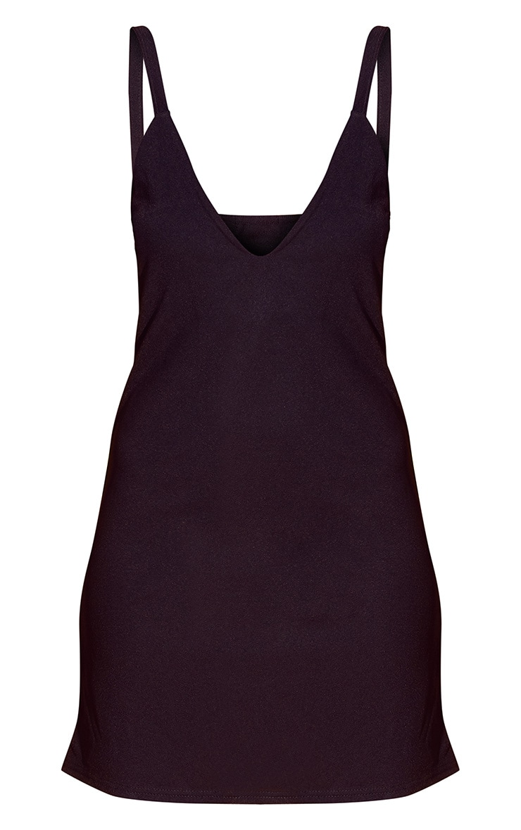 Black Strappy Shift Dress 3