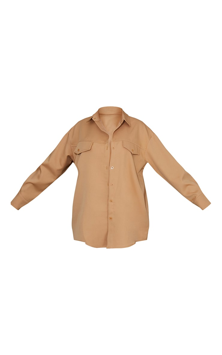 Sand Wyoming Slogan Oversized Shirt 5