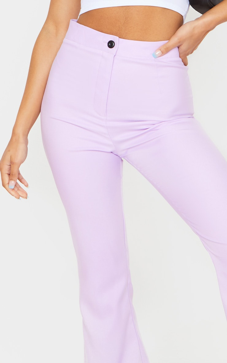 Plain Lilac Flared Pants 4