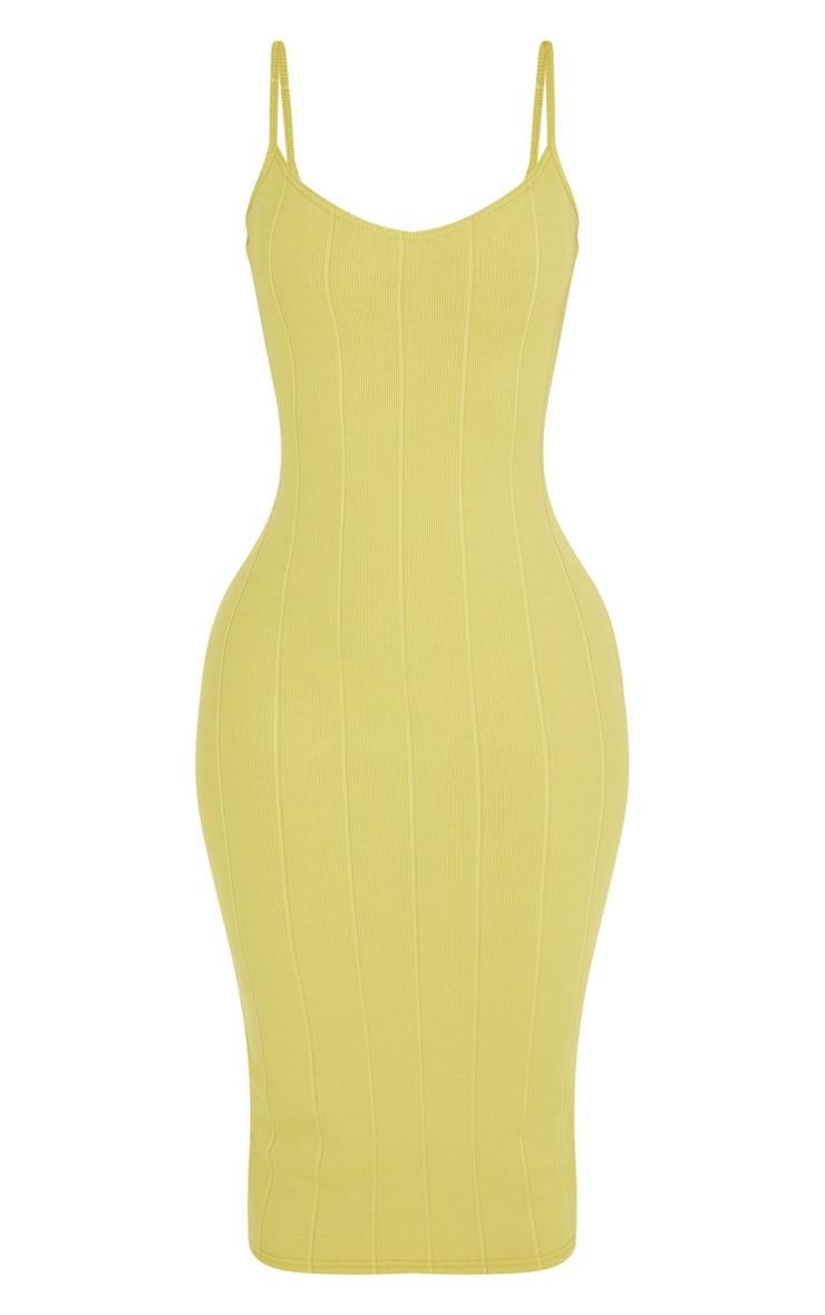 Shape Lime Bandage Midi Dress 3