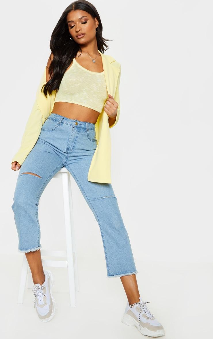 Lemon Strappy Knitted Vest  4
