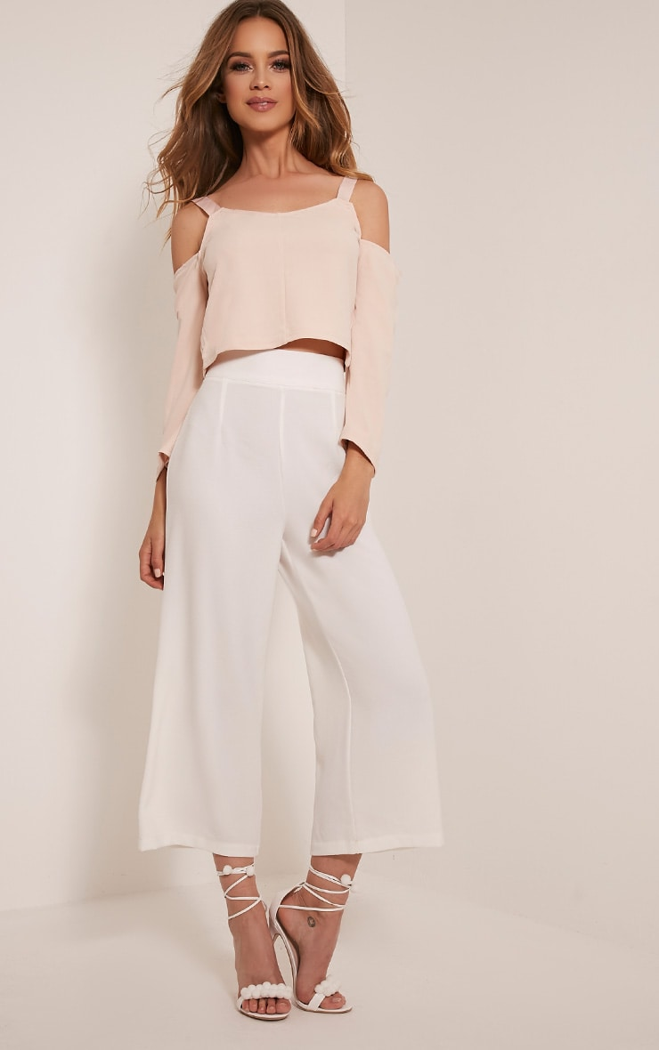 Audra Nude Drop Arm Crop Top 5