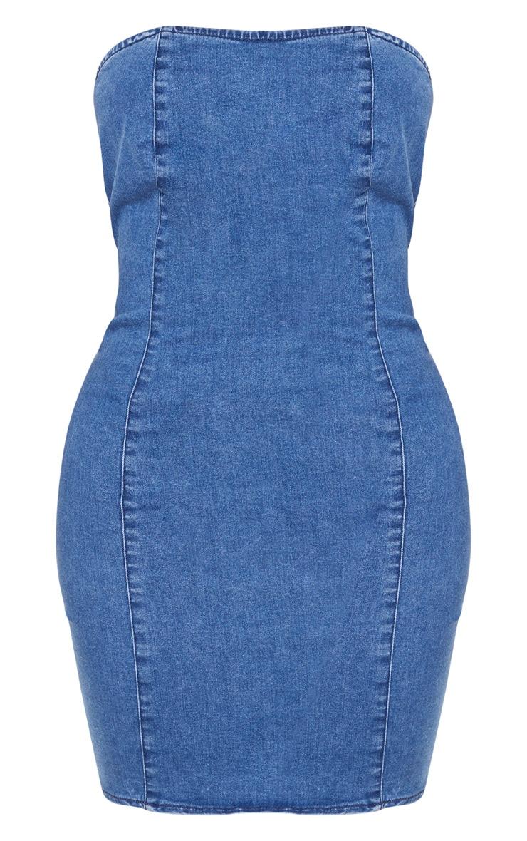 Shape Indigo Strapless Denim Bodycon Dress 3