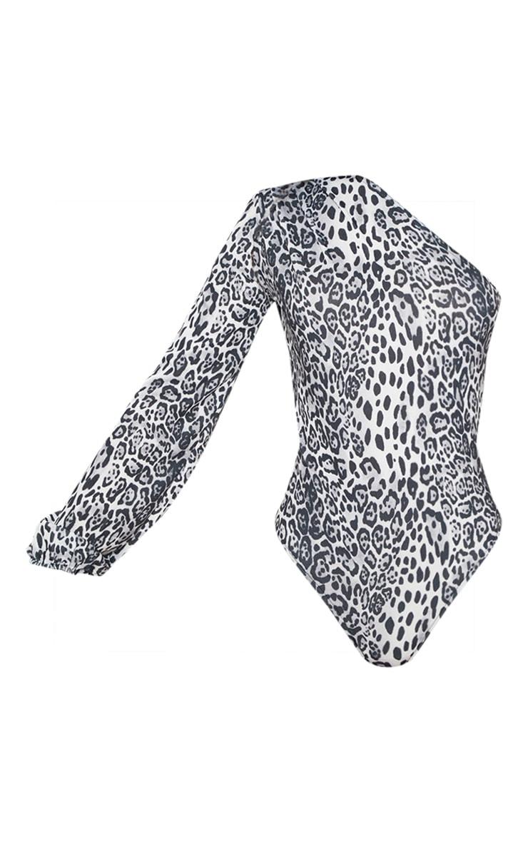 Mono One Shoulder Printed Bodysuit 3
