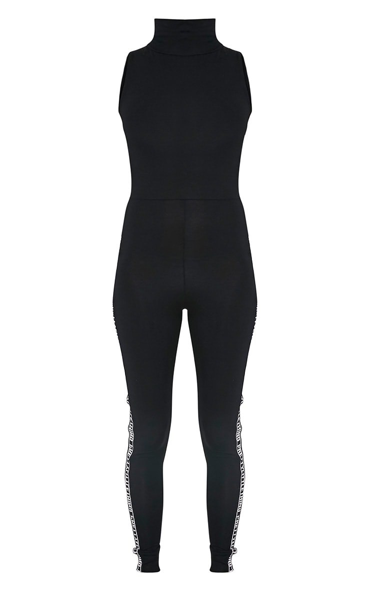 Nilah Black Sports Band Jumpsuit 3