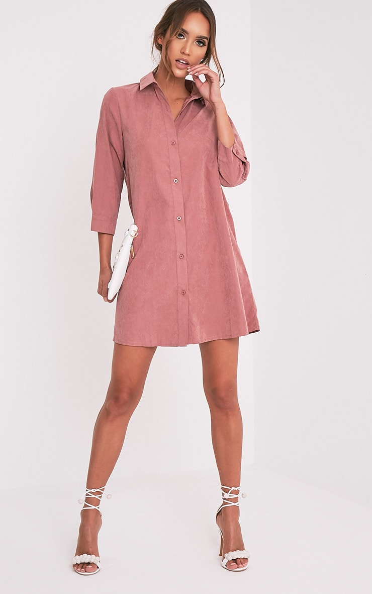 Leni Dusty Pink Shirt Dress 10