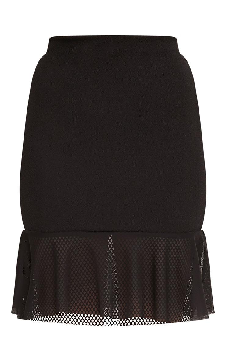 Annika Black Layered Mesh Hem Mini Skirt 3