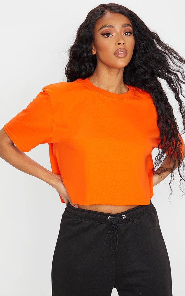 Orange Chaos Dragon Printed Cropped T Shirt 2