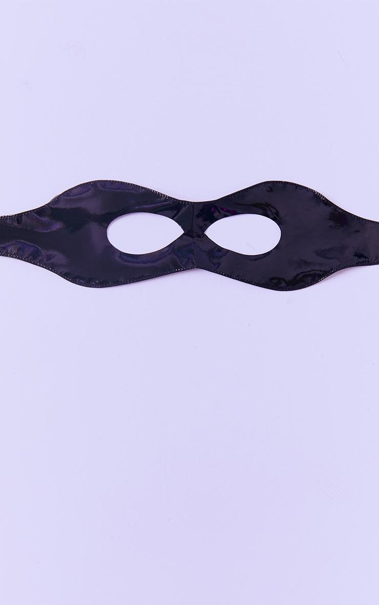 Black PU Face Mask 3