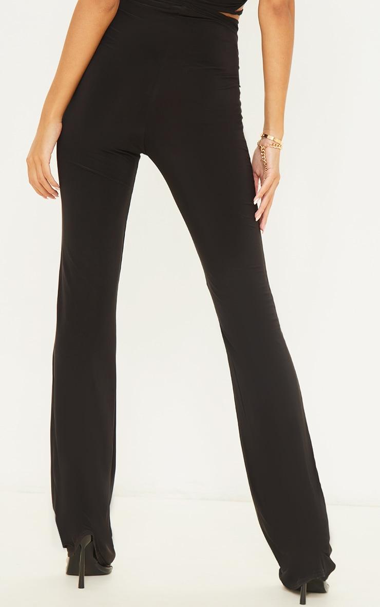 Black Slinky Cross Front Leggings 3