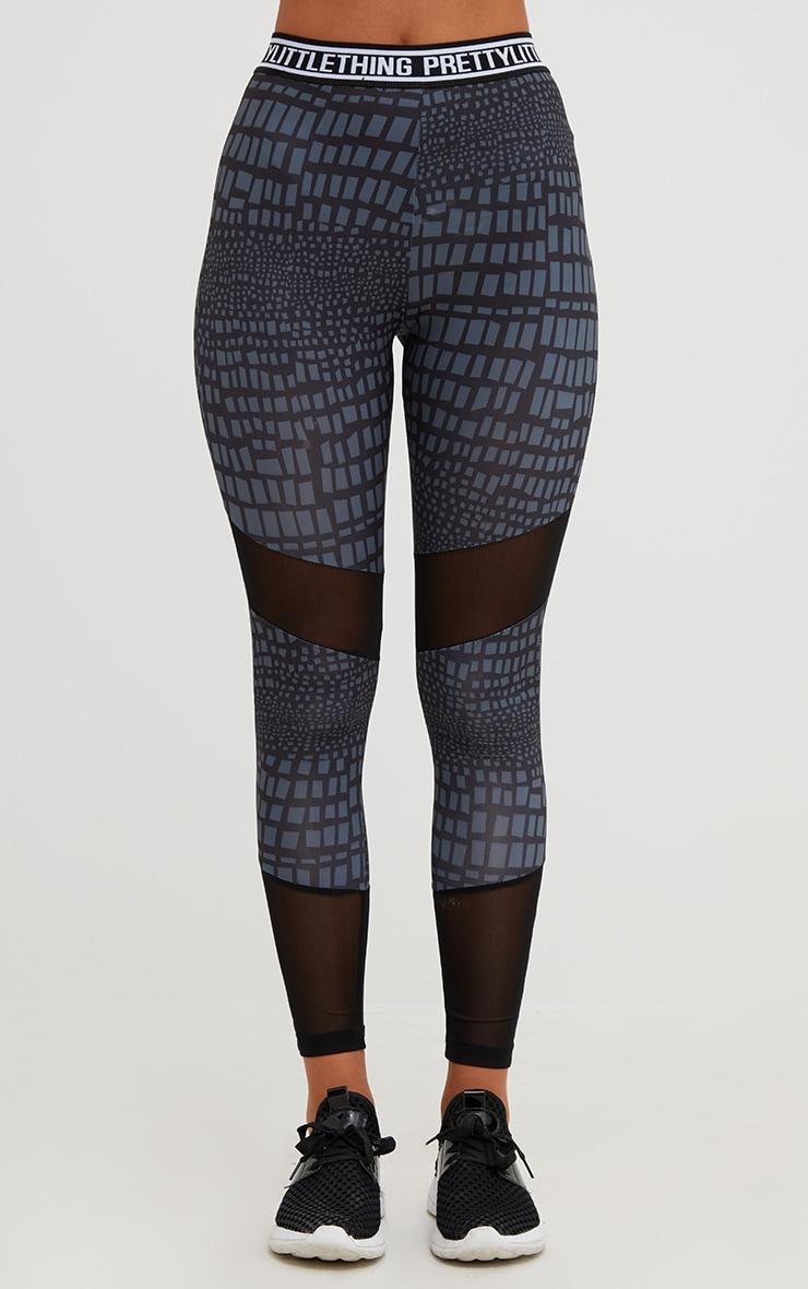 PRETTYLITTLETHING Grey Printed Leggings 3