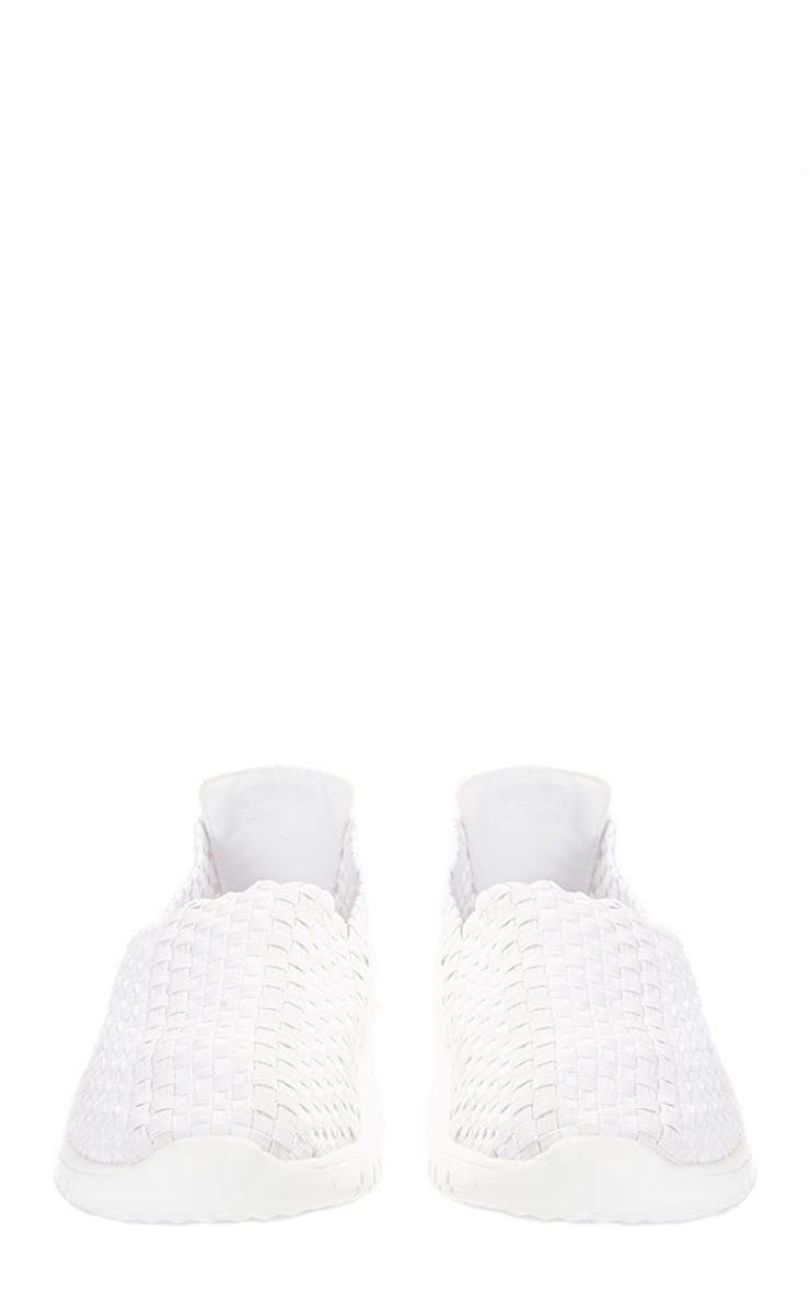 Julie White Woven Slip On Trainers 4