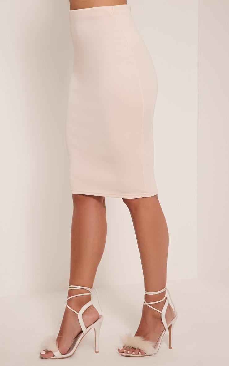 Winnie Blush Scuba Midi Skirt 4