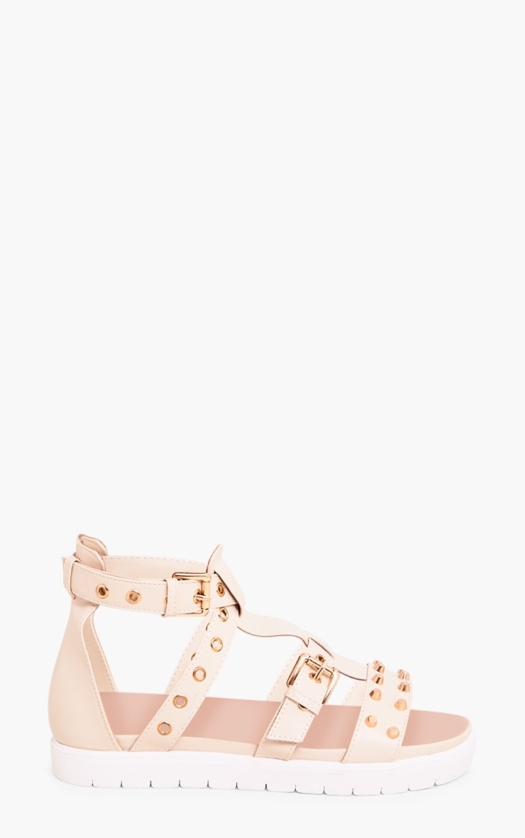 Clarice Nude Studded Gladiator Sandals 5