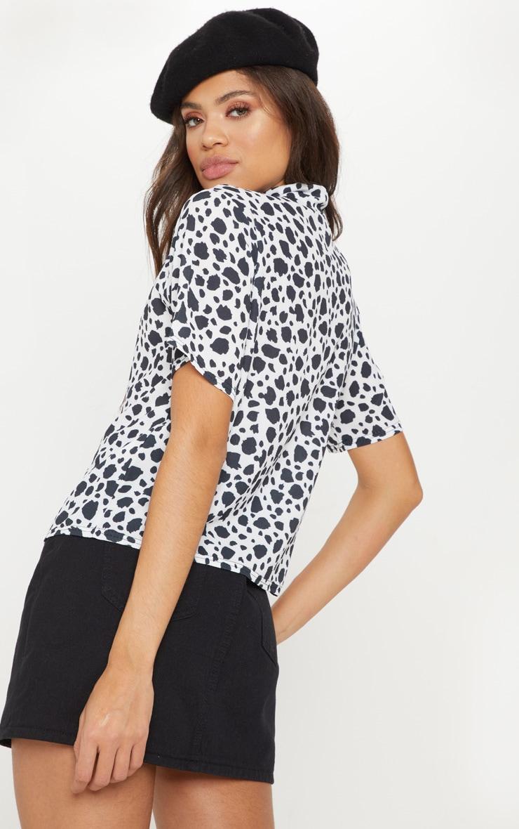 Black Dalmatian Print Shirt 2