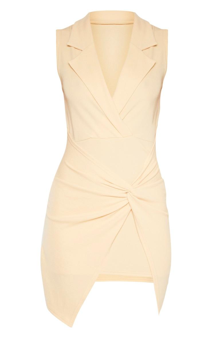Fawn Sleeveless Twist Front Plunge Blazer Dress 3