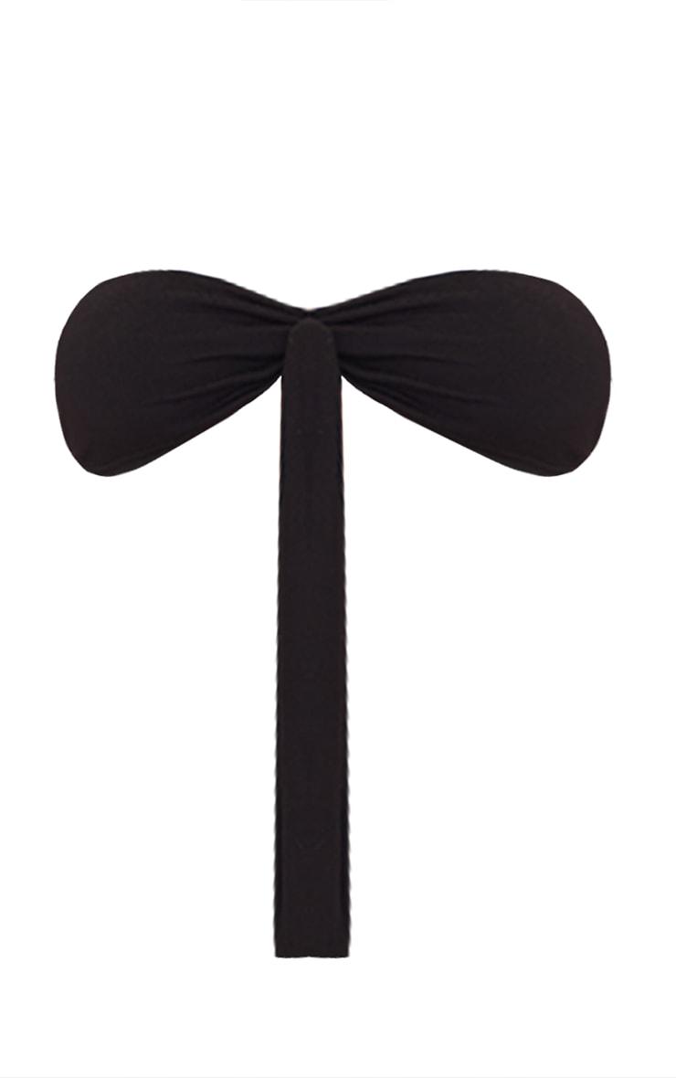 Black Jersey Tie Front Bralet 5
