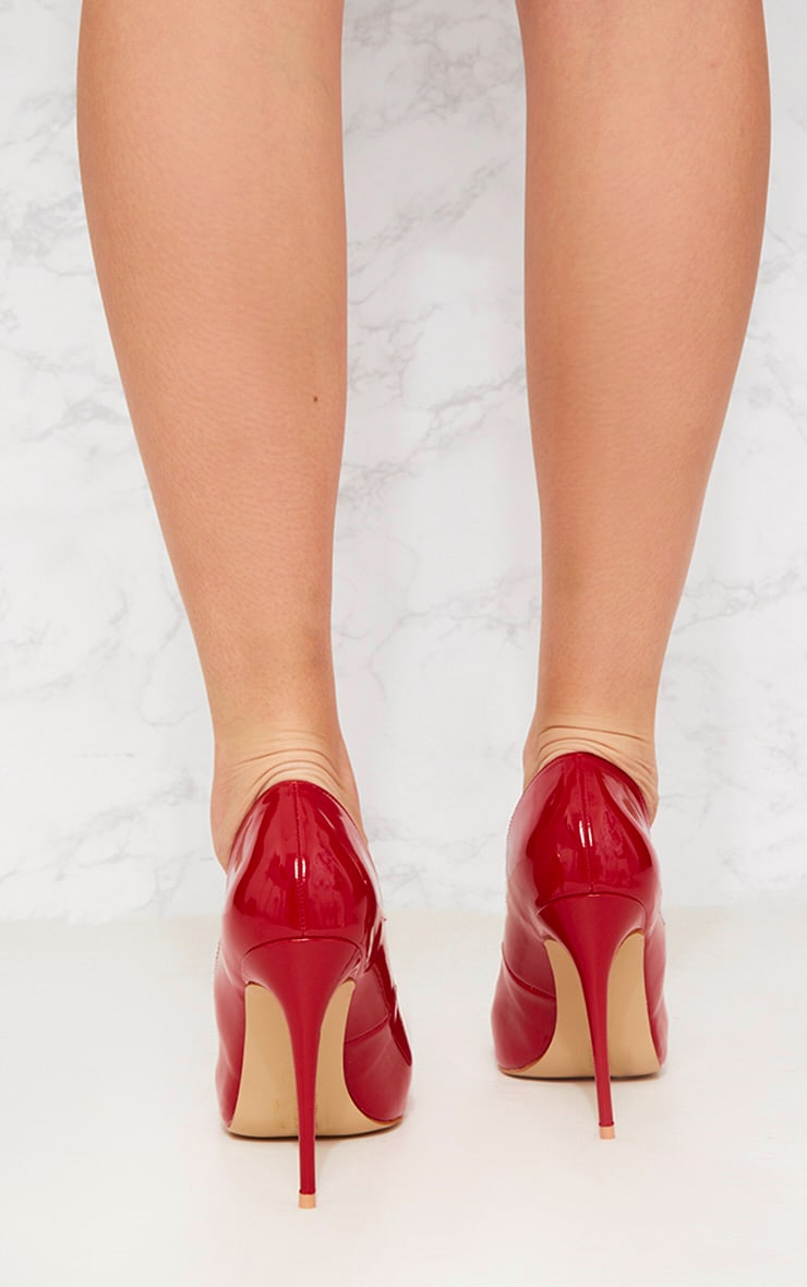 Red Patent Court Shoe 2