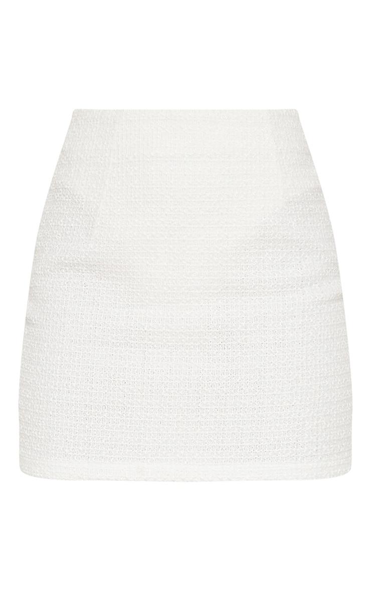 Petite White Boucle Mini Skirt 3