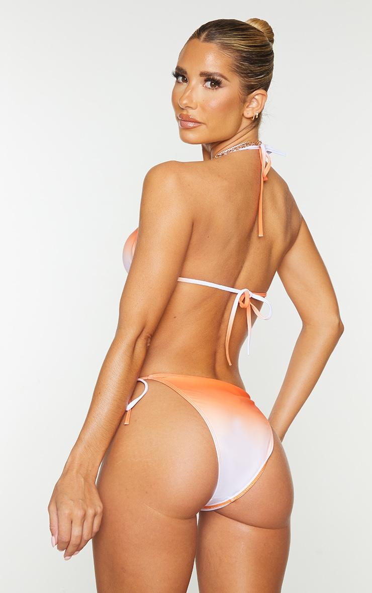 Orange Ombre Padded Triangle Bikini Top 2