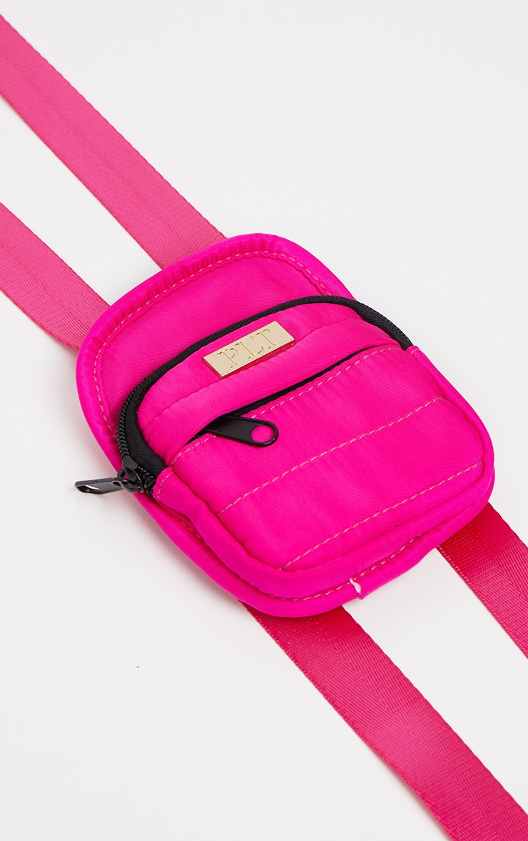 Pink Front Nylon Mini Coin Bag 2