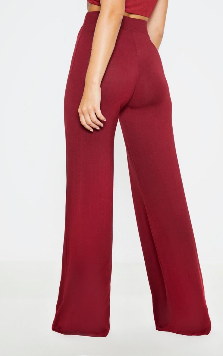 Lot de 2 pantalons larges basiques en jersey - Noir & Bordeaux 4