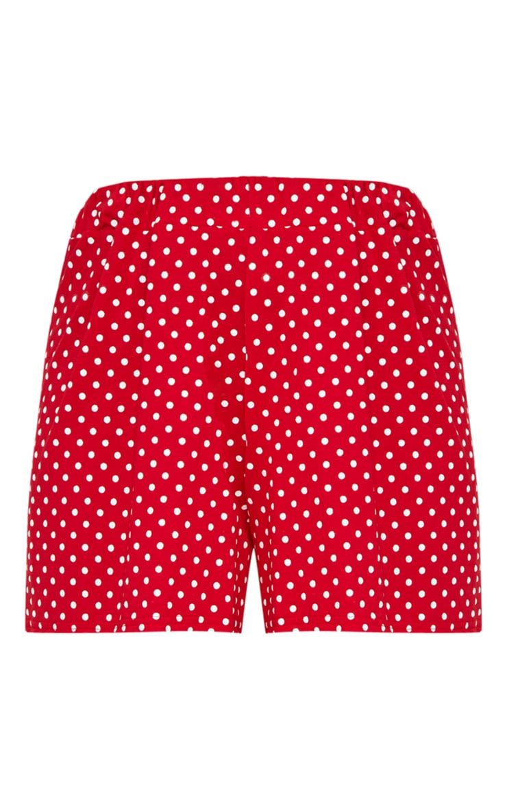Red Jersey Floaty Polka Dot Short 3