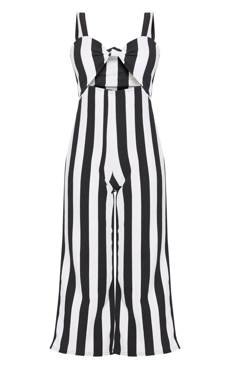 Monochrome Knot Front Culotte Jumpsuit 3