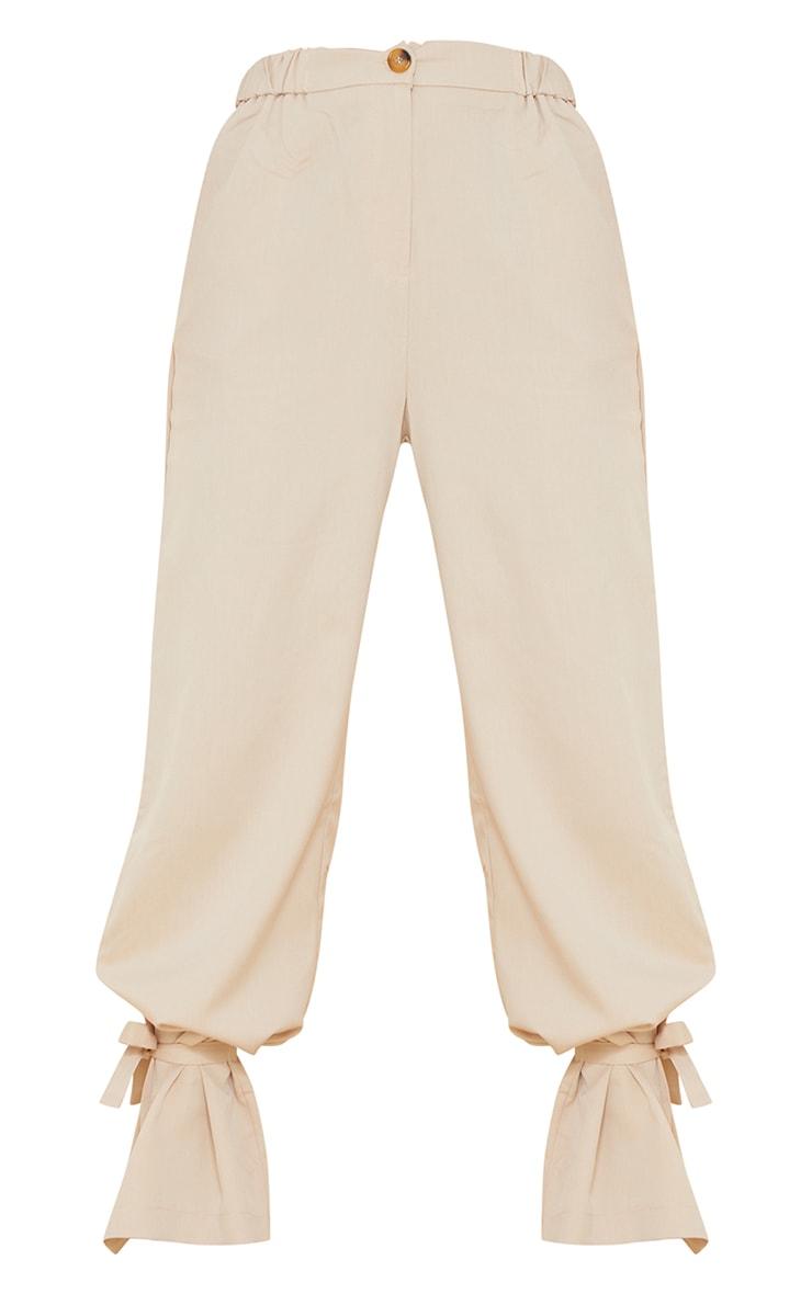 Stone Tailored Elasticated Waist Tie Hem Trousers 5