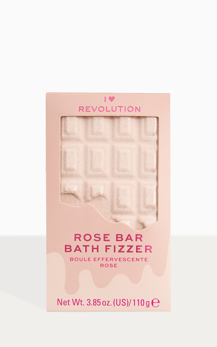 I Heart Revolution Chocolate Bar Bath Fizzer Rose 1