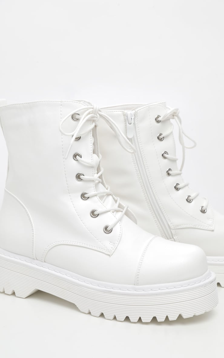 White Hiker Boot 4