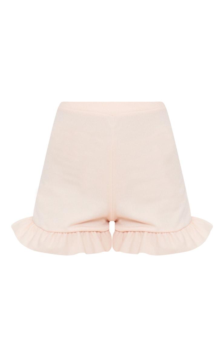 Nude Frill Hem Shorts 3