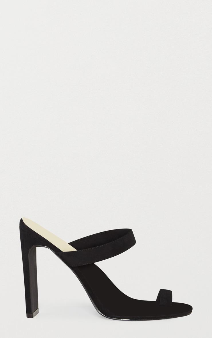 Sandales à talons noires à lanière sur l'orteille 3