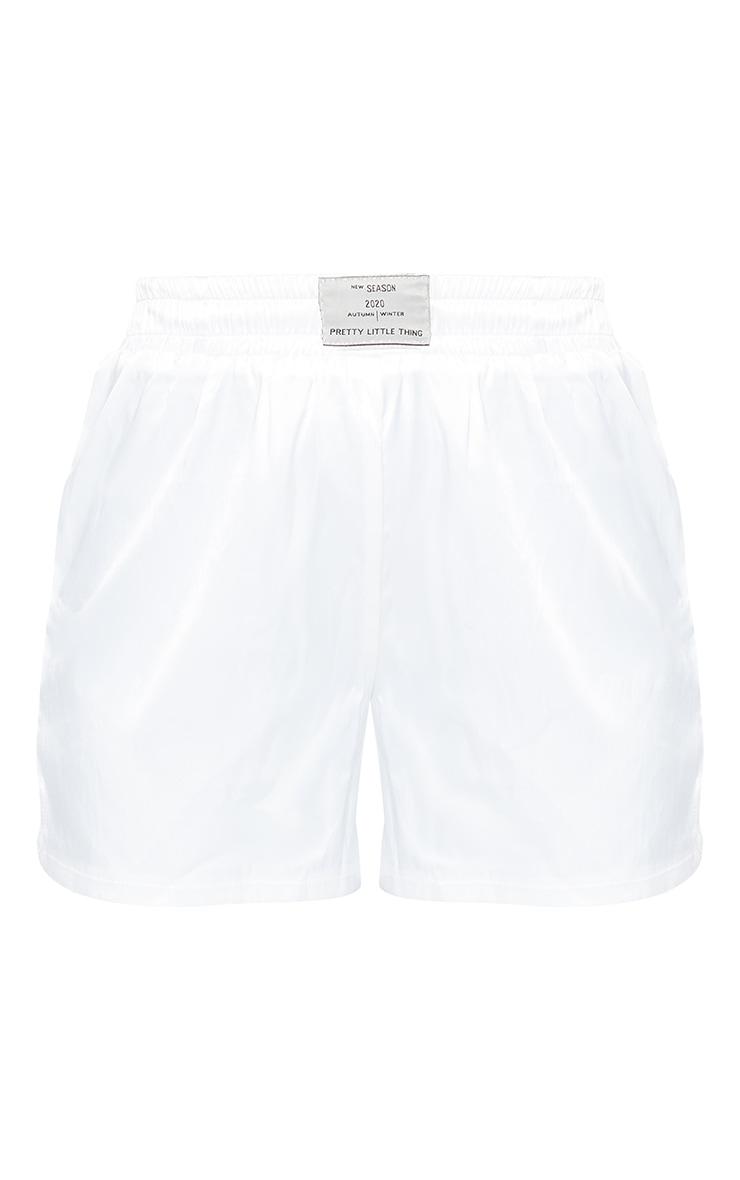 Cream Satin Boxer Shorts 6