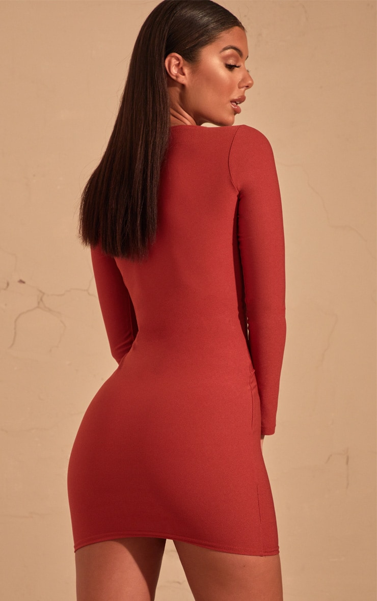 Auburn Long Sleeve Bodycon Dress  2