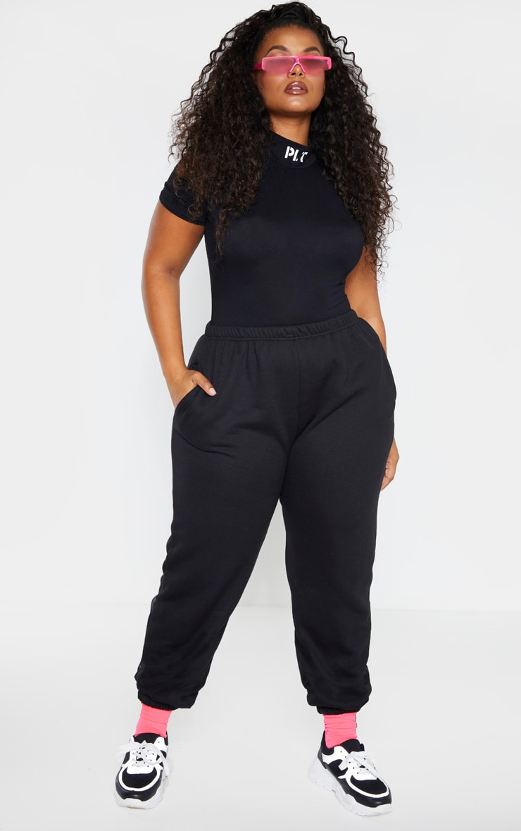 Plus Black Casual Jogger 1