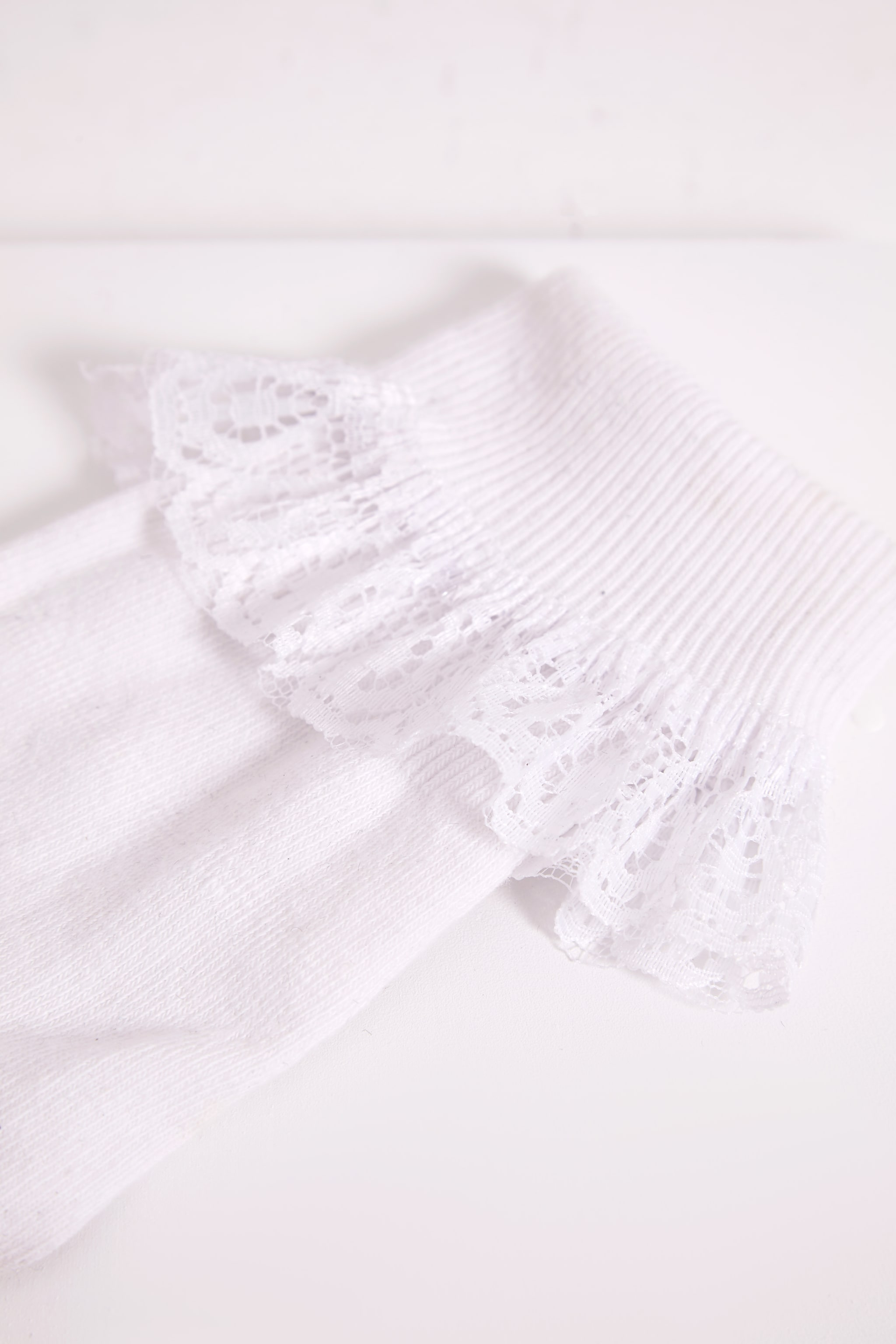 Kimber White Lace Trim Ankle Sock 4