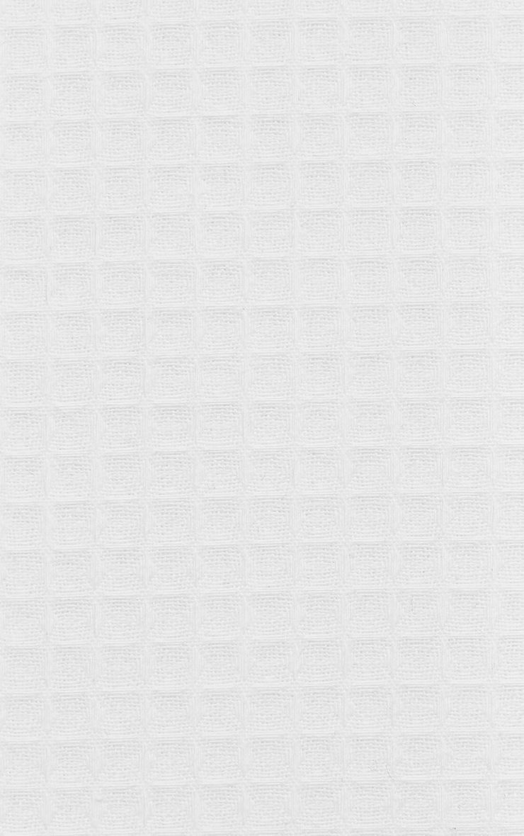 PRETTYLITTLETHING White Waffle Single Duvet Set 4