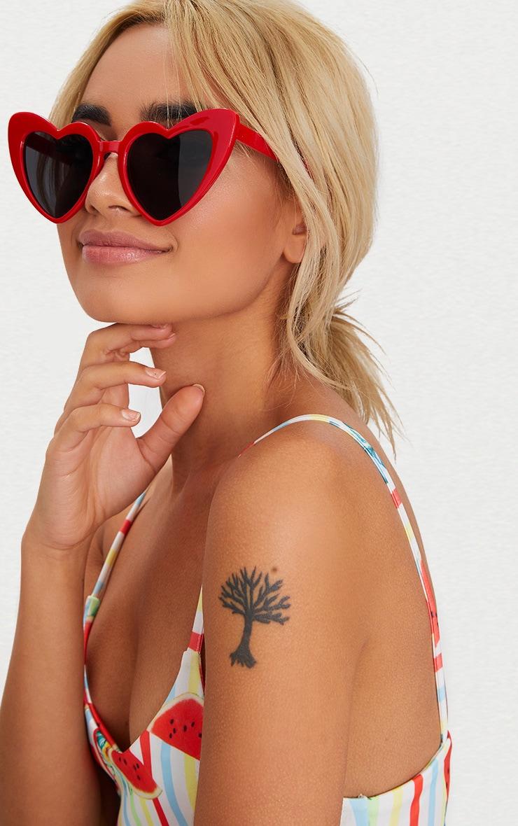 Red Heart Shape Sunglasses 2