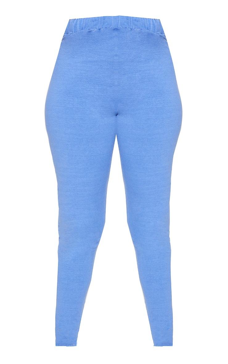 Blue Washed Leggings 5