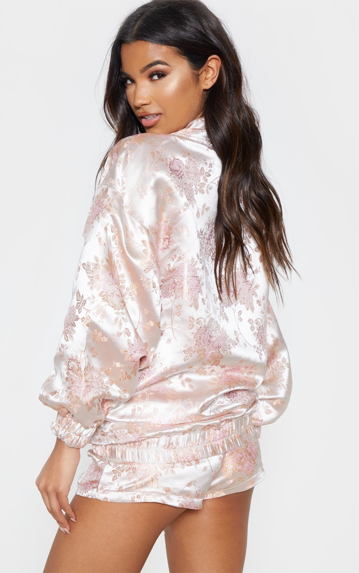 Blush Oriental Embroidered Bomber 2