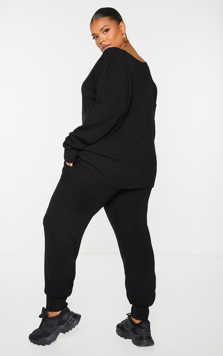 PLT Plus - Ensemble lounge en maille tricot noire 2