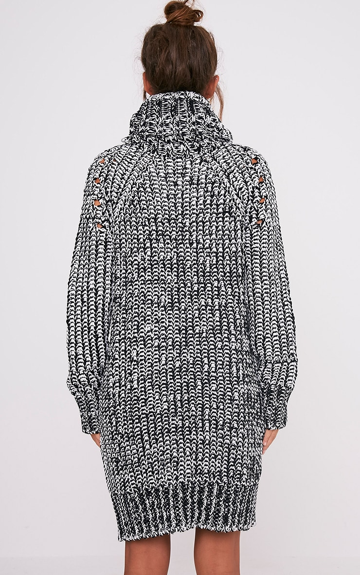Xael Monochrome Knitted Roll Neck Oversized Dress 2