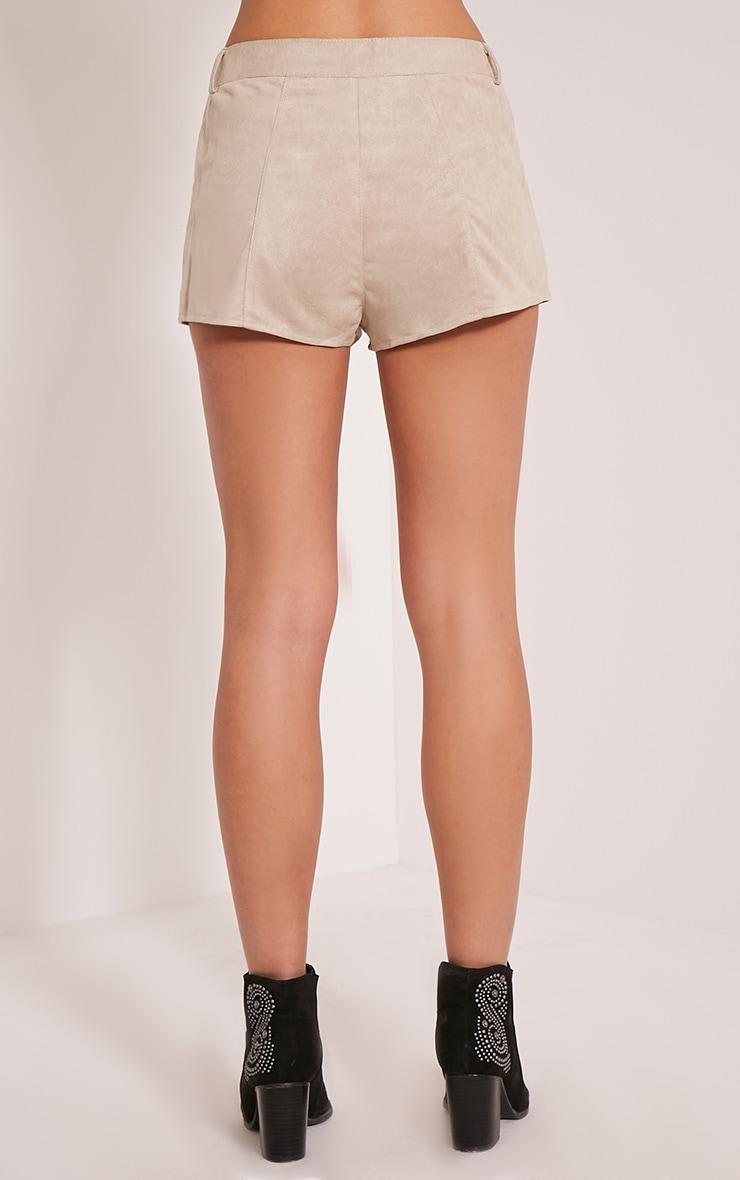 Kirah Stone Faux Suede Lace Up Hotpants 5