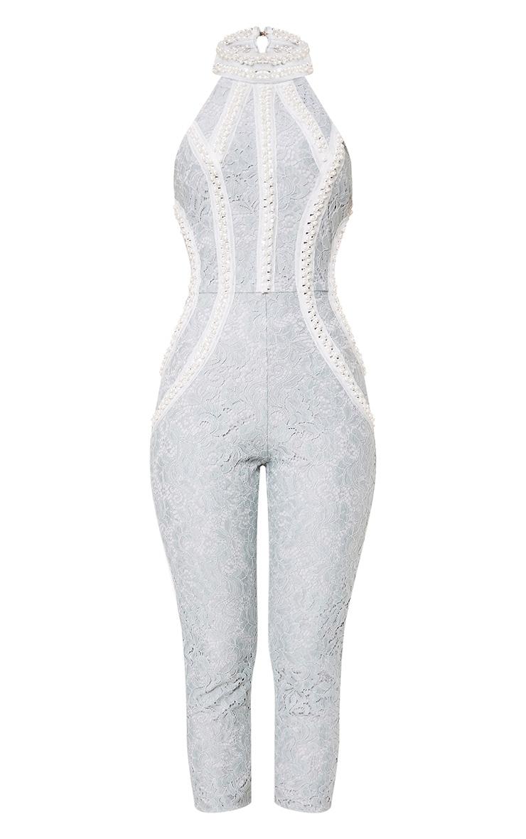 Kashya Pale Blue Embellished Jumpsuit 2