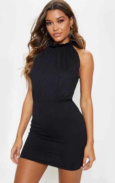 5492e06c63c Black Sleeveless High Neck Bodycon Dress