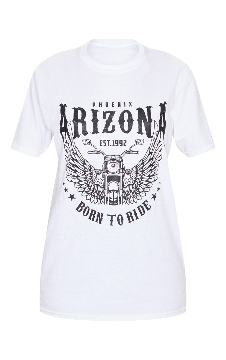White Arizona Rock T Shirt 5