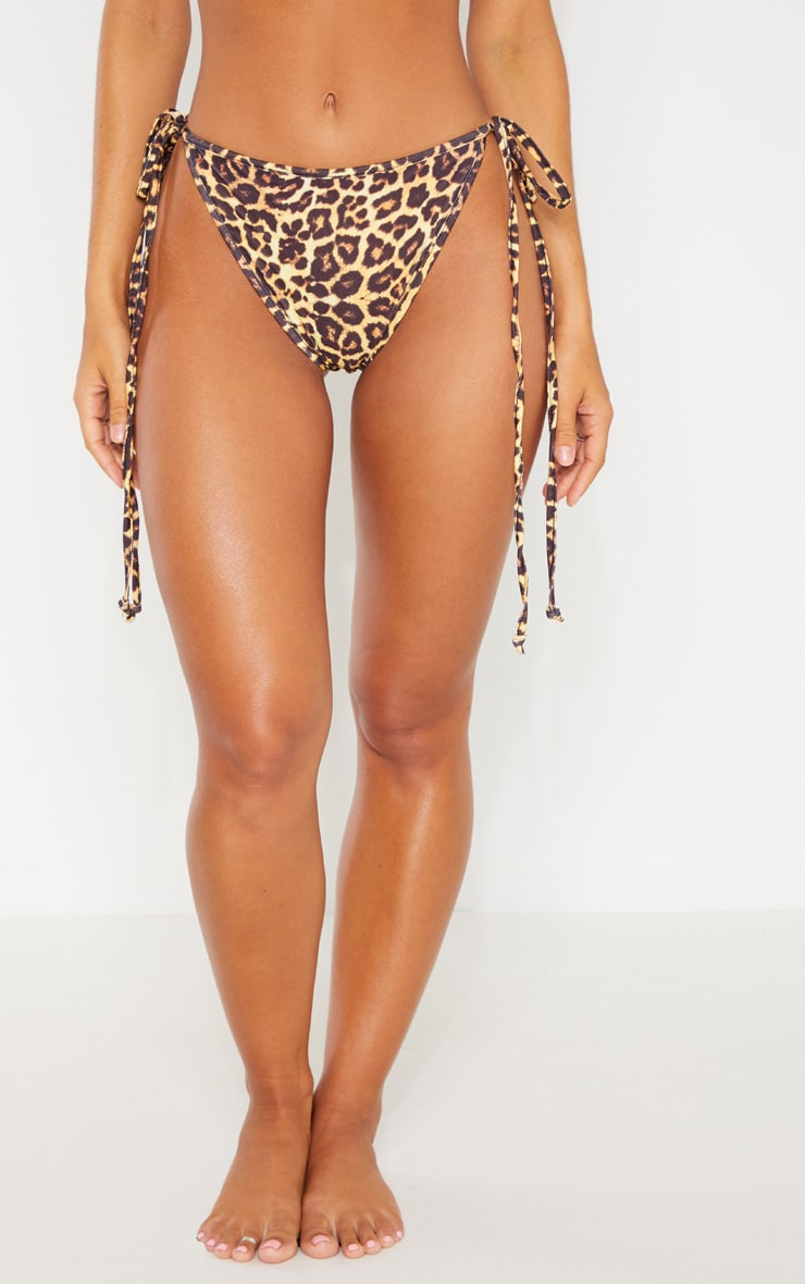 Leopard Mix & Match Tie Side Bikini Bottom 2