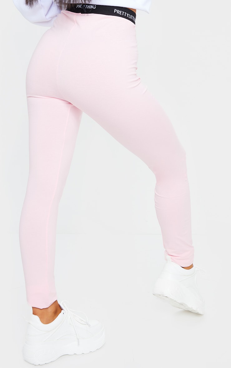 PRETTYLITTLETHING Baby Pink Tape Leggings 3